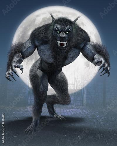 Canvas Print Werewolf - On The Prowl