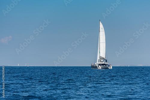 Fototapeta catamaran on the sea