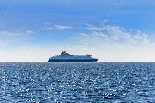 Obraz na płótnie ferry  on the sea
