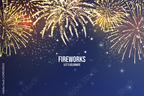 Canvas Print Festive fireworks