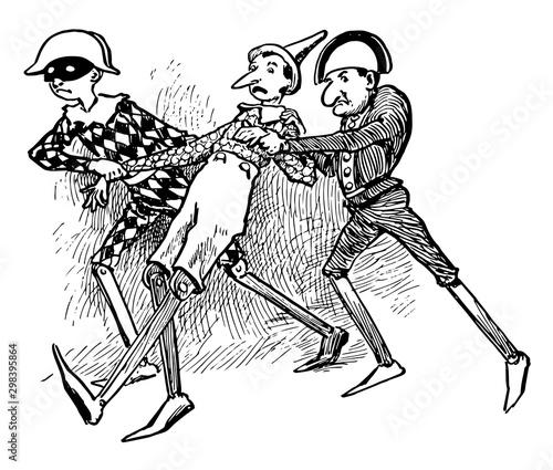 Fotografia Pinocchio, vintage illustration