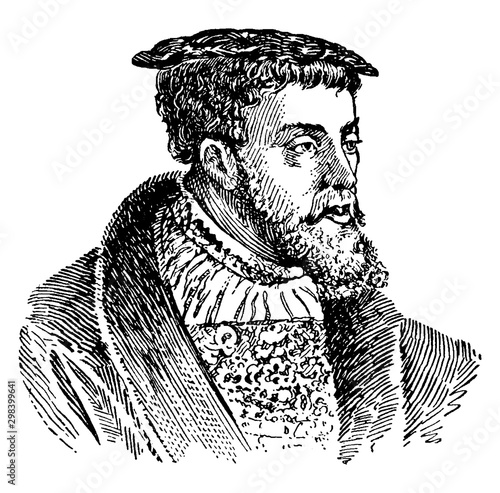Obraz na płótnie Charles V, vintage illustration
