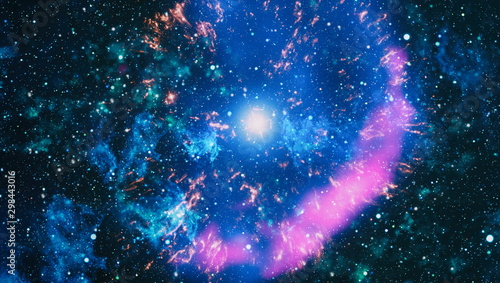 Photo Colorful deep space