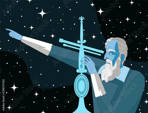 galileo galilei. great scientific astronomer. Fototapete