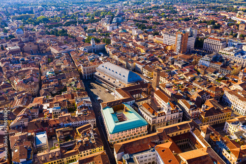 Wallpaper Mural Aerial view of Padua cityscape with buildings and streets