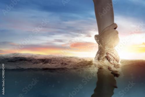 Fotografia God giving a helping hand to human