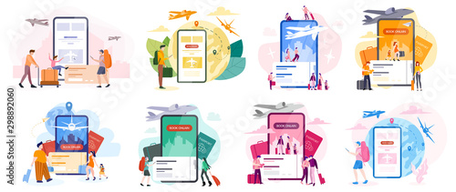 Book flight online concept. Idea of travel and tourism. Planning