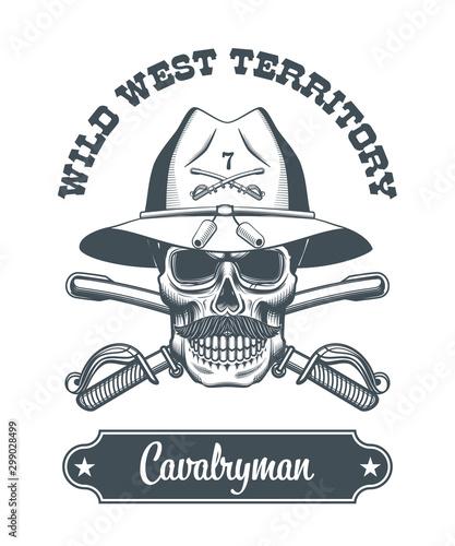 Fotografija cavalryman skull logo