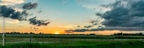 Canvas-taulu Midwest Sunset Panoramic