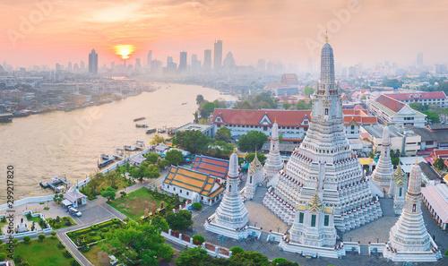 Canvas Print High angle view Bangkok Thailand