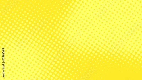 Nowożytny żółty wystrzał sztuki tło z halftone kropkami desing w komiczka stylu, wektorowa ilustracja eps10