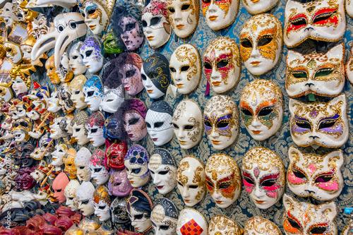Fotografie, Obraz Venice carnival masks for sale, Venice, Italy.