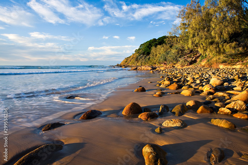 Obraz na płótnie Late afternoon at Wategos Beach, Byron Bay, New South Wales, Australia
