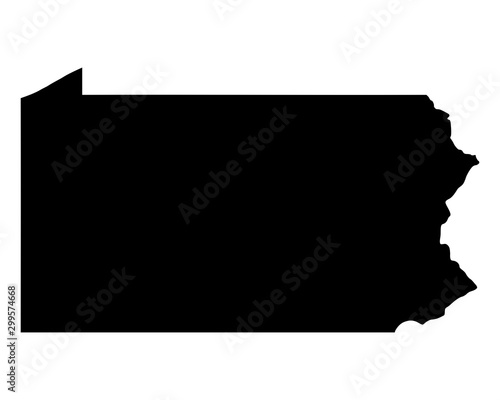 Fotografia Karte von Pennsylvania