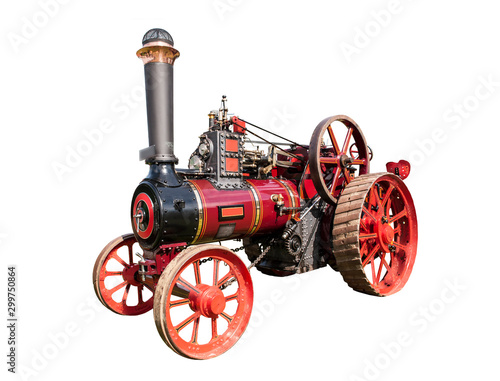 Canvas Print cut out image of a steam traction engine