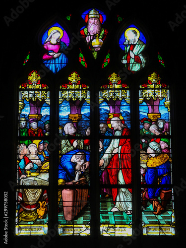 Canvas Print Stained Glass in Le Treport - Wedding at Cana
