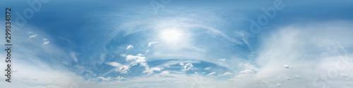 Stampa su Tela blue sky with beautiful clouds