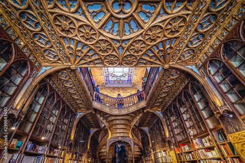 Obraz na plátně Porto, Portugal - November 13, 2017: Lello Bookstore in Porto, considered to be