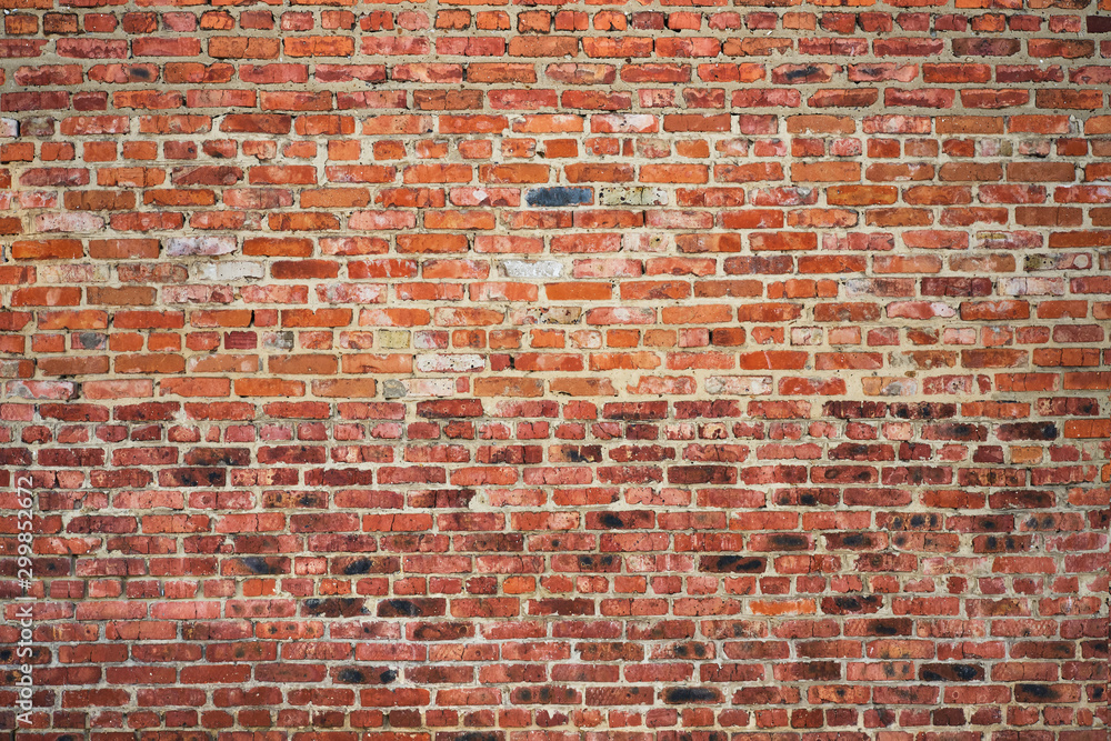 old red brick wall texture background <span>plik: #299852672 | autor: Aleksandr Rybalko</span>