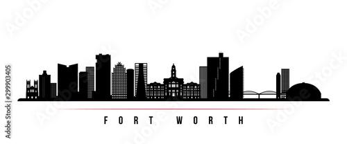 Slika na platnu Fort Worth skyline horizontal banner