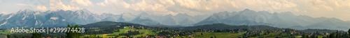 Panorama Tatr o zachodzie słońca