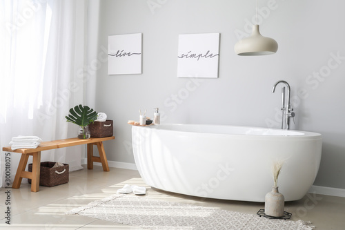 Wallpaper Mural Stylish interior of modern bathroom