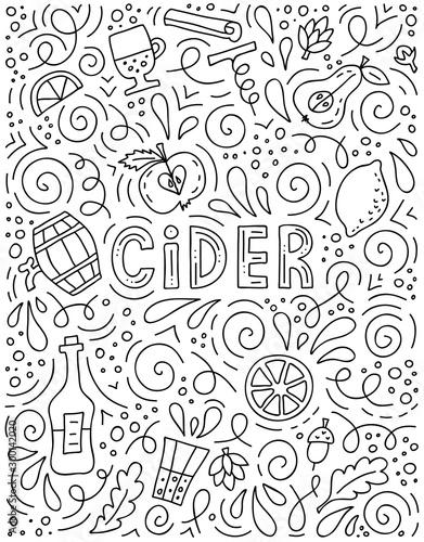 Fotografie, Tablou Cider advertising