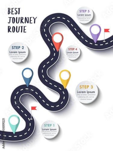 Fototapeta The Best Journey Route