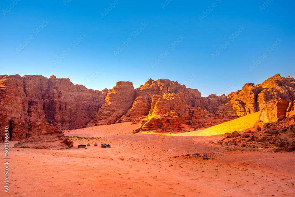 Wadi Rum desert in Jordan