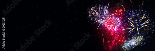 Canvastavla Fireworks New Year