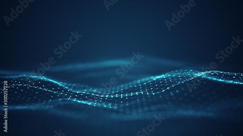 Fotografia Technology digital wave background concept