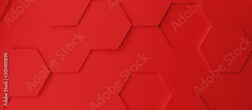 Tablou Canvas Abstract modern red homeycomb background