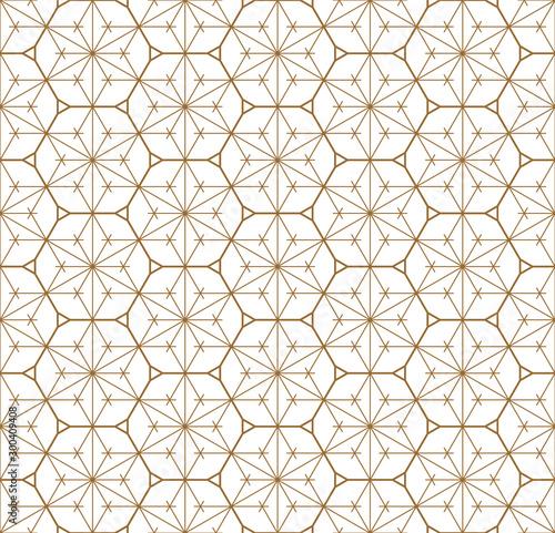 Fototapeta Seamless geometric pattern based on japanese ornament kumiko .