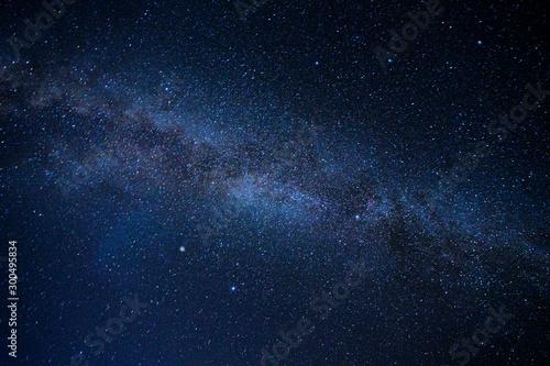 Beautiful colors of milky way on night sky