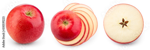 Red apple isolate Fototapeta