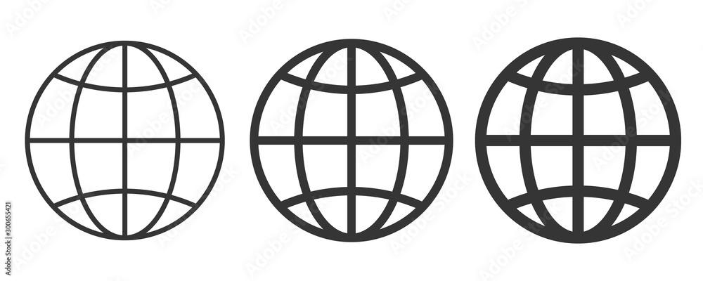 World icon - vector. <span>plik: #300655421 | autor: chekman</span>