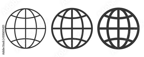 World icon - vector. #300655421