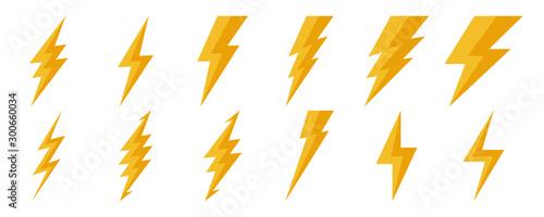 Photo Lightning icons - vector.