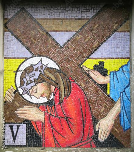 Fotografia Mosaic - Fifth Station of the Cross Ballina County Mayo Ireland (2019)