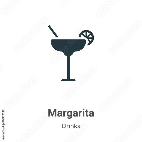 Fotomural Margarita vector icon on white background
