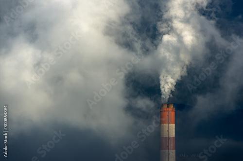 Leinwand Poster Air Pollution