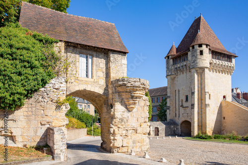 The medieval rampart and gates in Nevers, Burgundy, France Fototapeta