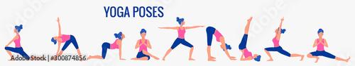 Fotografia Various yoga poses set