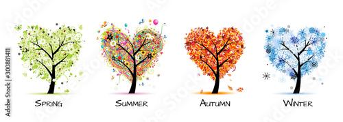 Foto Four seasons - spring, summer, autumn, winter