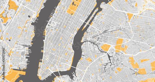 Szczegółowa mapa Nowego Jorku, USA