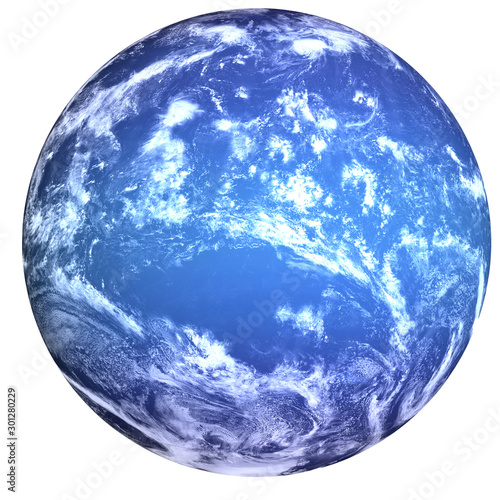 Obraz na płótnie High detailed Neptune Planet of solar system with white atmosphere isolated