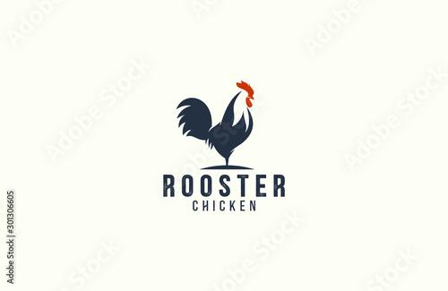 Fotografija Amazing rooster logo design vector