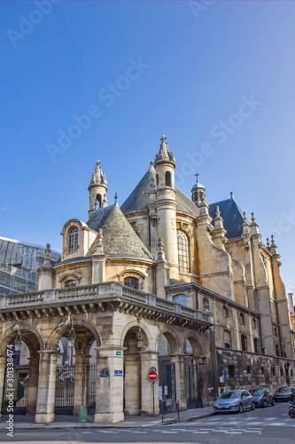 Obraz na płótnie The Temple Protestant de l'Oratoire du Louvre in Paris