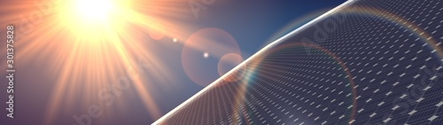 Photographie photovoltaic renewable background solar panel 3d