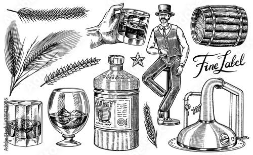 Obraz na płótnie Whiskey set